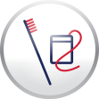 Toothbrush Flossing Icon